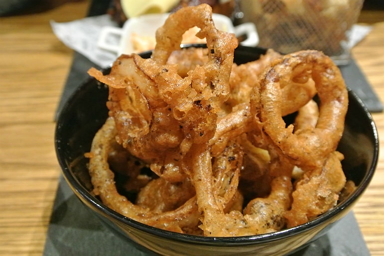 Smoke Shack BBQ restaurant Stony Stratford review onion rings