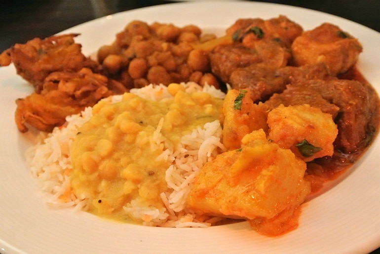 B-Town Milton Keynes Sunday buffet main course curry