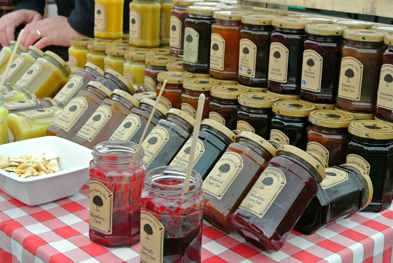 Gather food festival Stowe cherry tree jam
