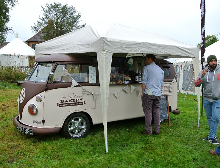 Gather food festival Stowe coffee van