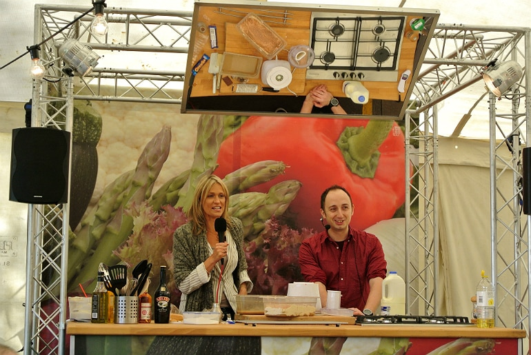 Gather food festival Stowe cooking stage