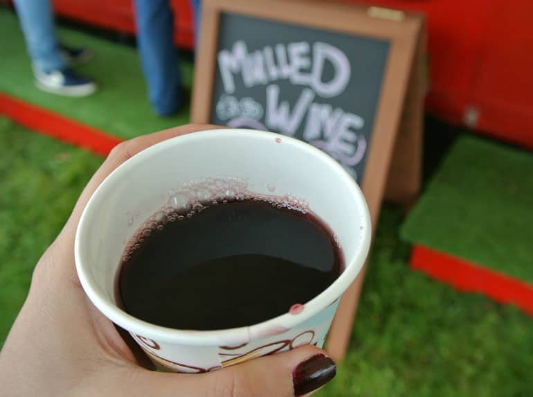 Gather food festival Stowe mulled wine