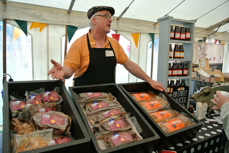 Gather food festival Stowe rib street meat