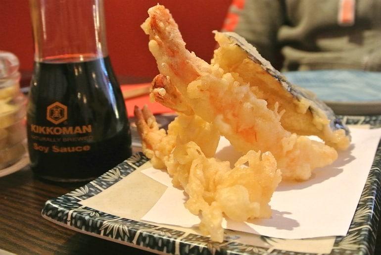 Sakura Southsea Portsmouth Japanese restaurant tempura prawn