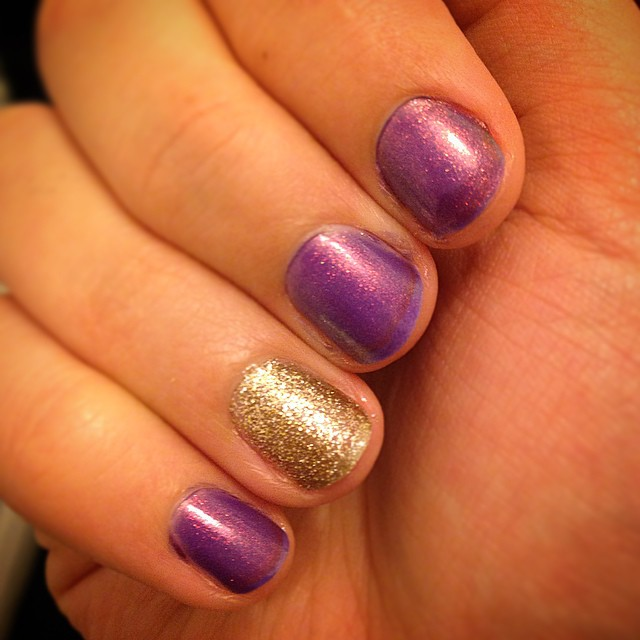 Day 60: My little stubs are sooo not photo worthy, but the glitter nail varnish is out and that only means one thing! ??? #100happydays