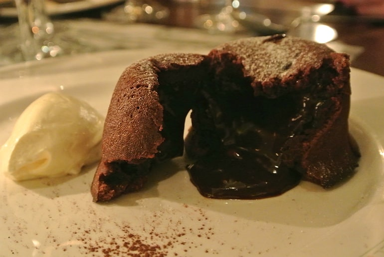 Boulestin London french restaurant review chocolate fondant melt