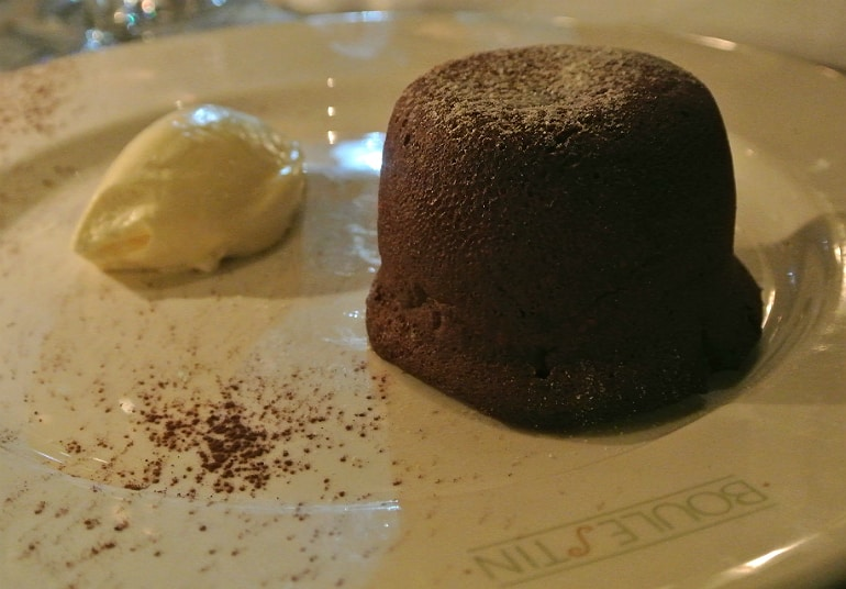 Boulestin London french restaurant review chocolate fondant