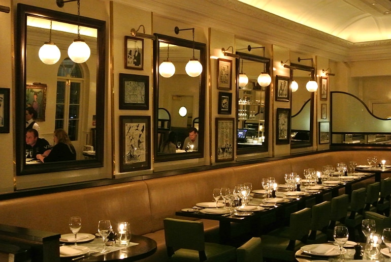 Boulestin London french restaurant review dining room