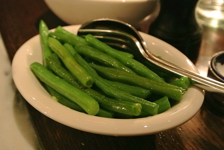 Boulestin London french restaurant review french beans