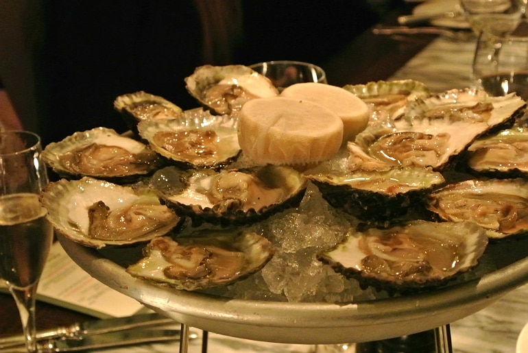 Boulestin London french restaurant review oysters