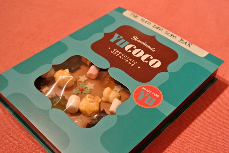 Yucoco personalised chocolate bar review