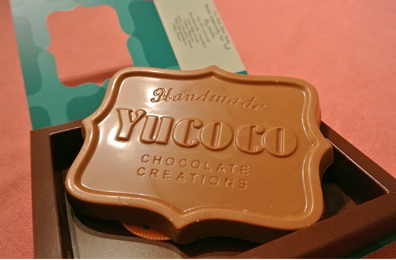 Yucoco personalised milk chocolate bar review