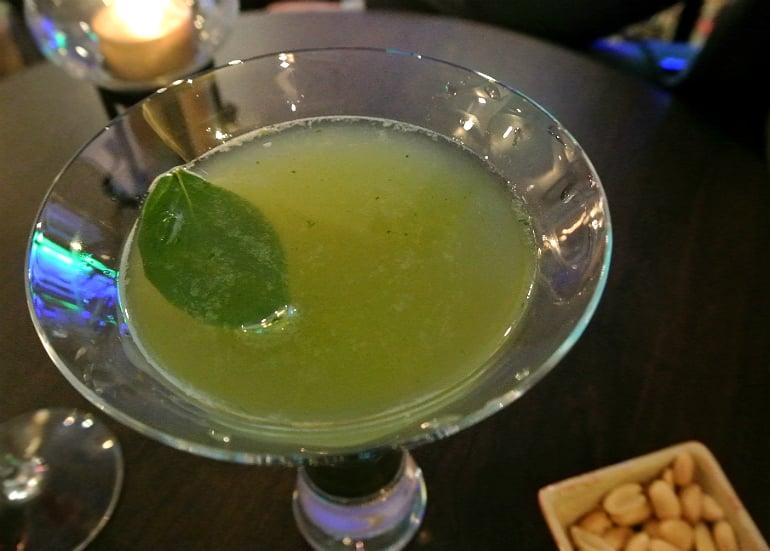 Crib De Rib cocktail bar Kensington London review basil drink