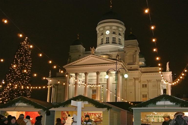 Helsinki christmas market hall