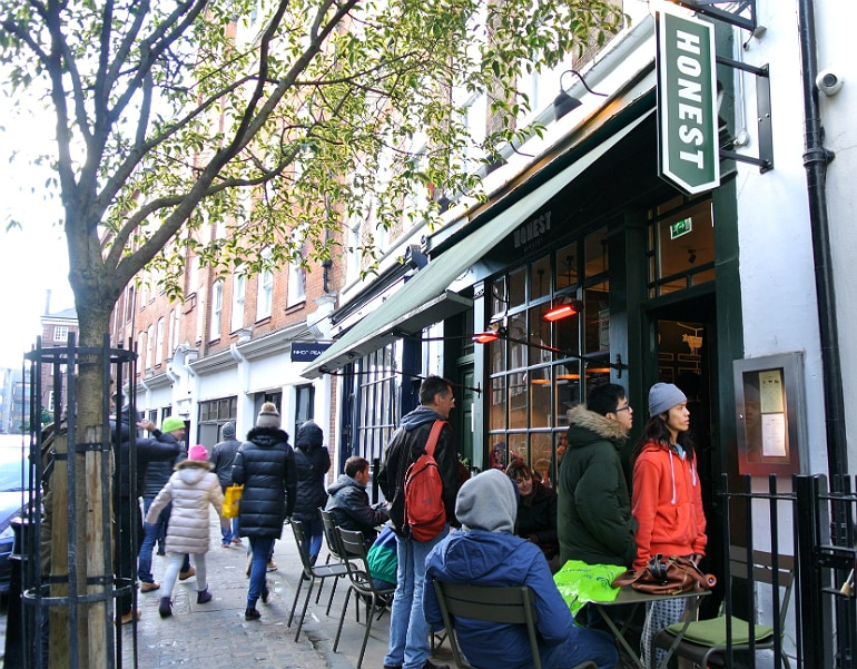 Honest burger Soho London review outside