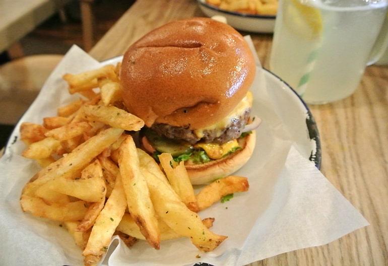 Honest burger Soho London review tribute chips