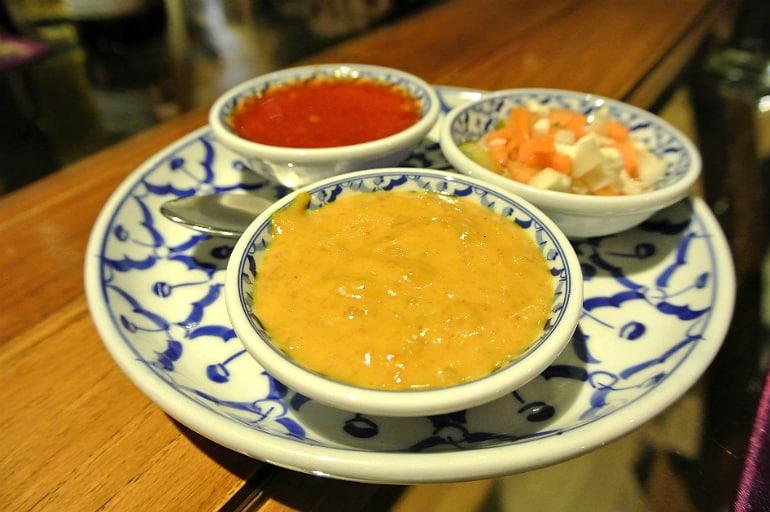 Thai Modern Milton Keynes review sauces