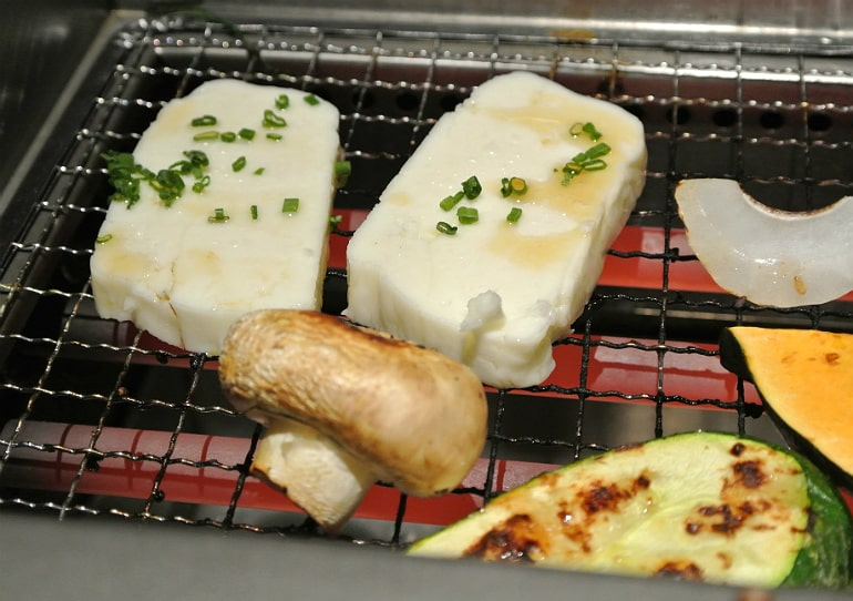 Kintan Japanese BBQ review London halloumi
