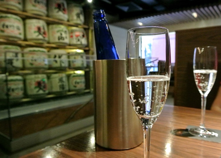 Kintan Japanese BBQ review London sake