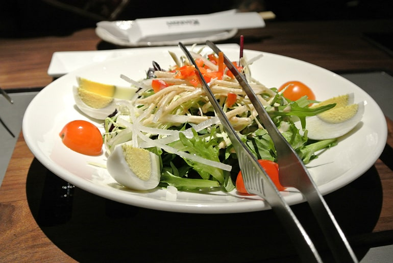 Kintan Japanese BBQ review London salad