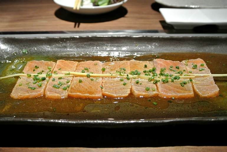 Kintan Japanese BBQ review London salmon