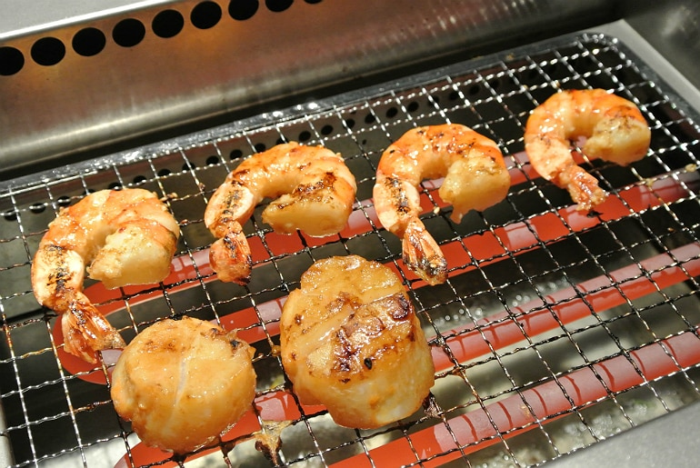 Kintan Japanese BBQ review London seafood