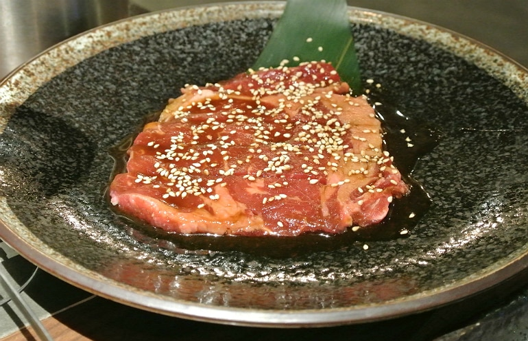 Kintan Japanese BBQ review London steak