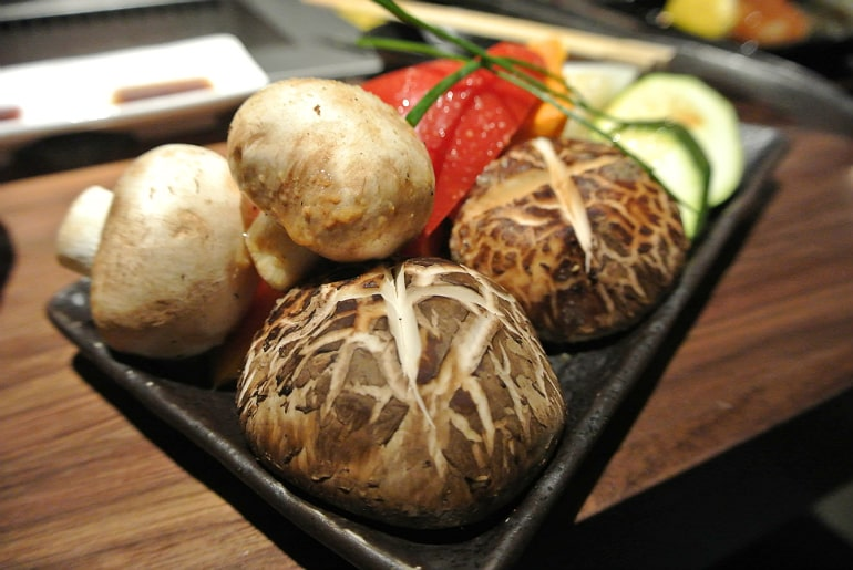 Kintan Japanese BBQ review London vegetables