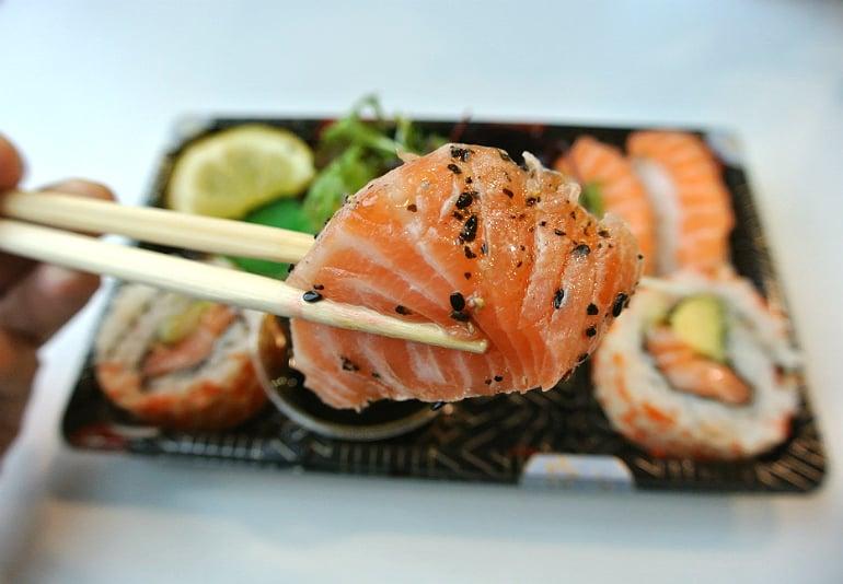 Kokoro sushi bento Milton Keynes review salmon