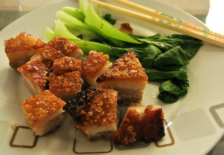 Miele steam oven belly pork pak choi