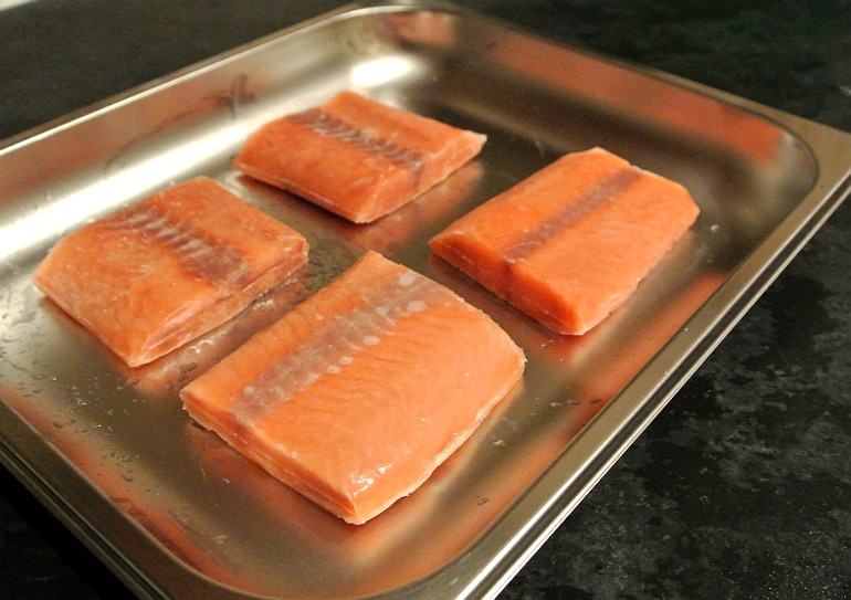 Miele steam oven salmon