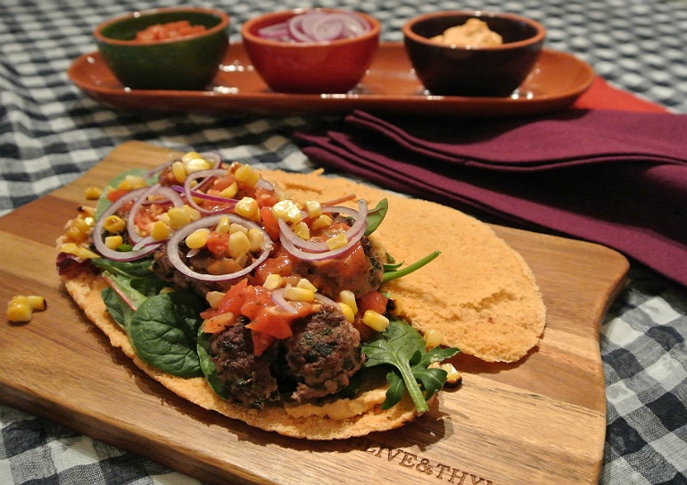 Easy lamb pitta recipe dinner healthy
