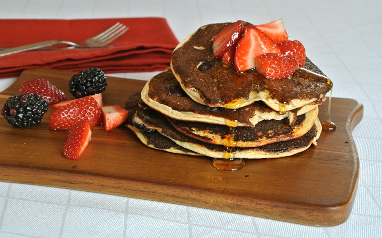 Fruity protein pancakes healthy recipe with honey