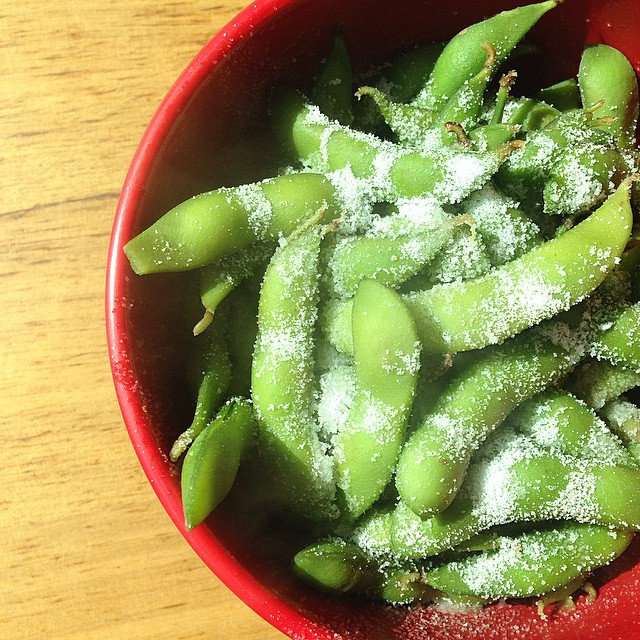 Would you like some edamame with your salt? ? #lunch #foodpics #miltonkeynes