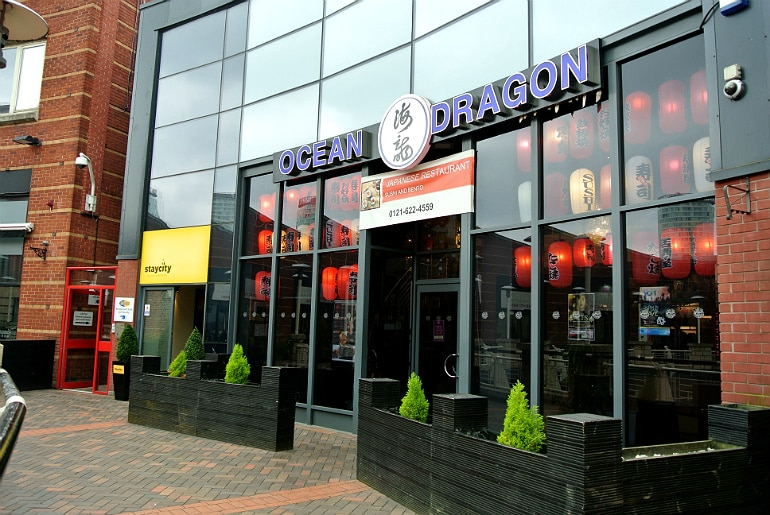 Ocean Dragon Birmingham review japanese restaurant