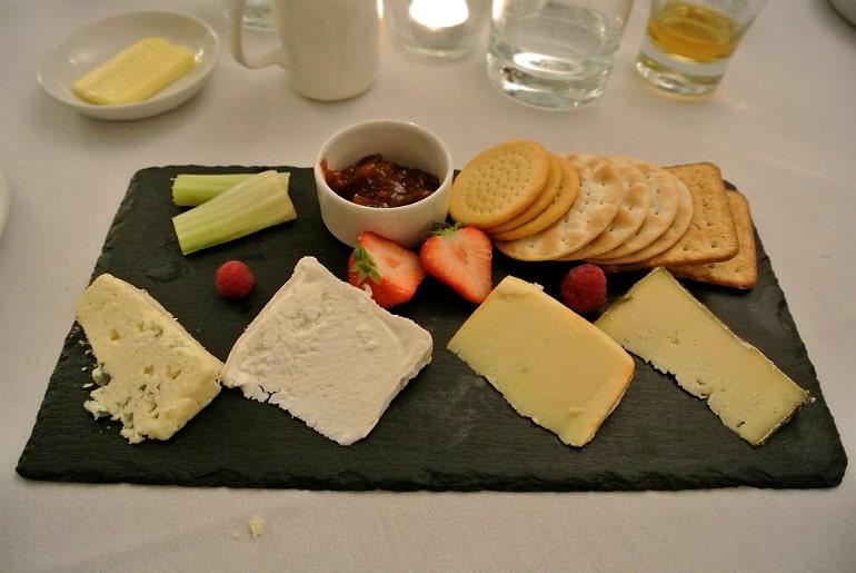 Woburn Brasserie restaurant review cheeseboard