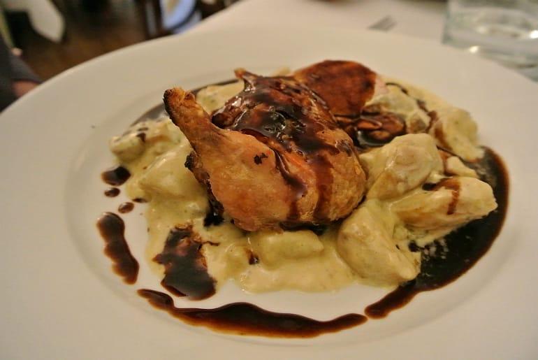 Woburn Brasserie restaurant review chicken