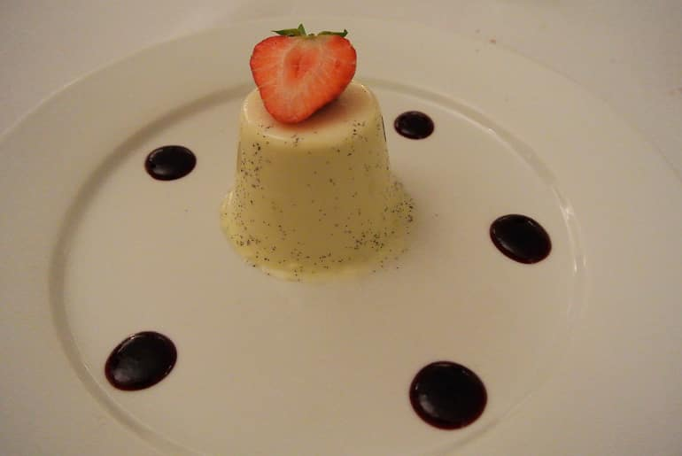 Woburn Brasserie restaurant review pannacotta