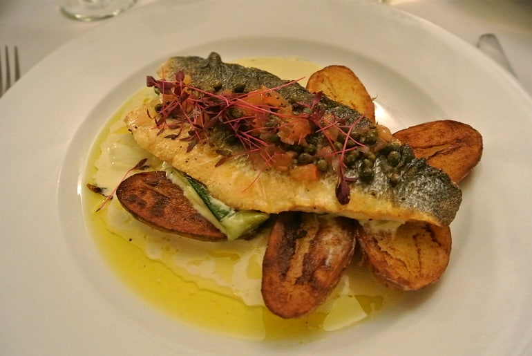 Woburn Brasserie restaurant review sea bass