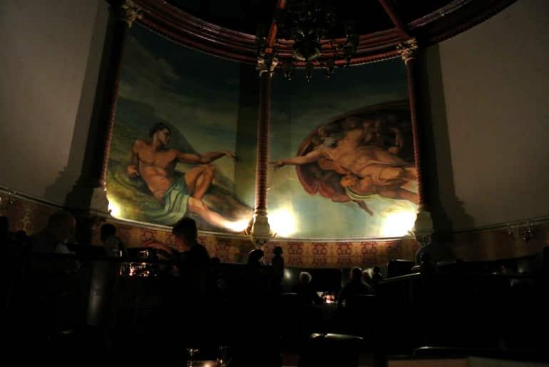 Calcutta Brasserie dining painting