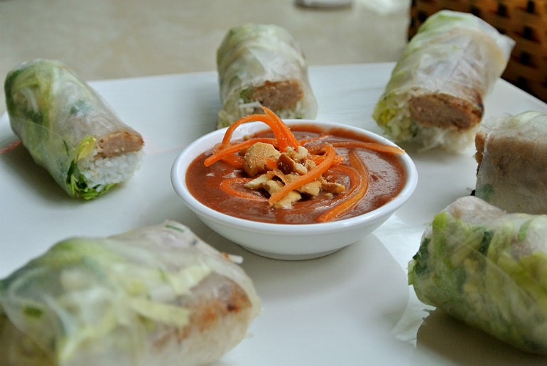 Eat Saigon Northampton review spring rolls