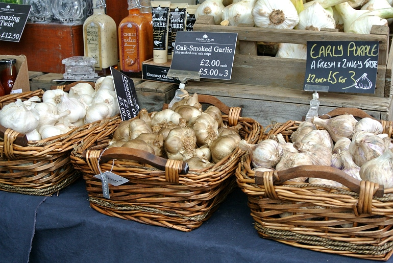 Waddesdon manor feast festival garlic bulbs