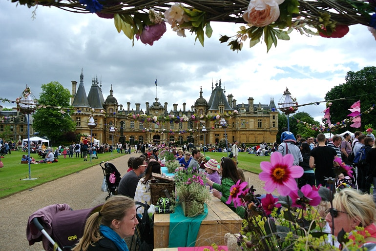 Waddesdon manor feast festival view