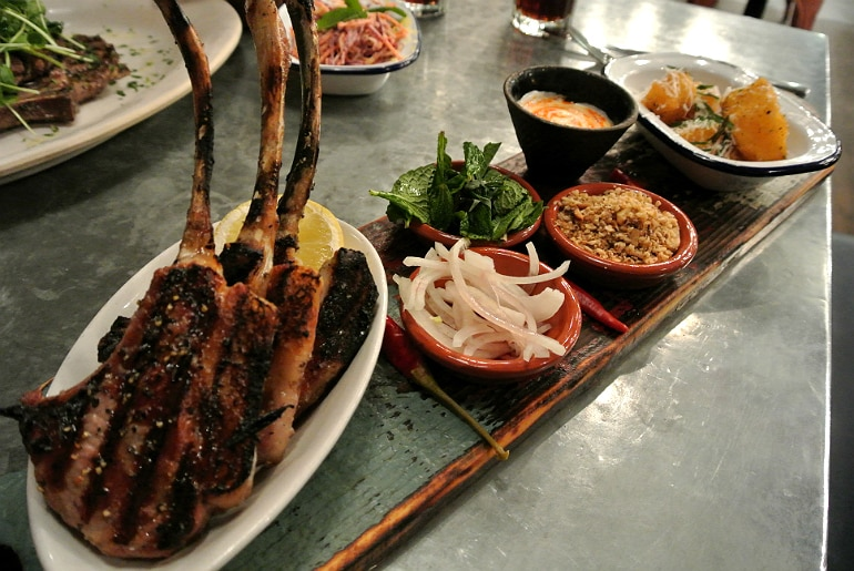 Jamie's Italian Milton Keynes review lamb chop meal