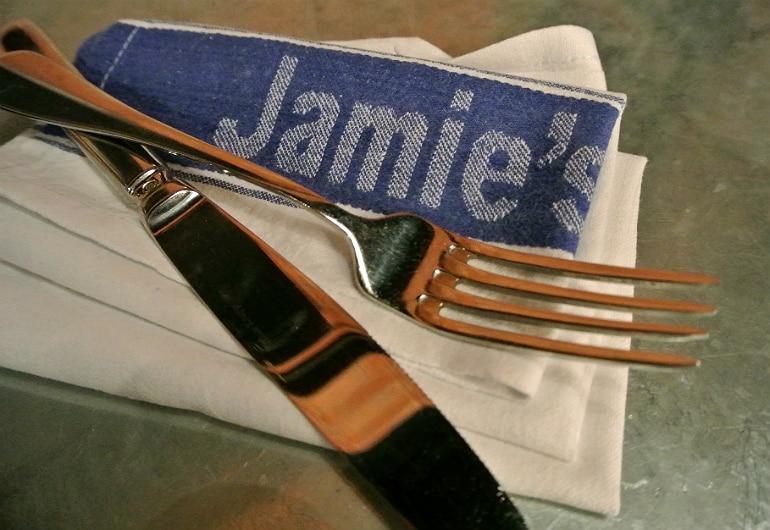 Jamie's Italian Milton Keynes review napkin