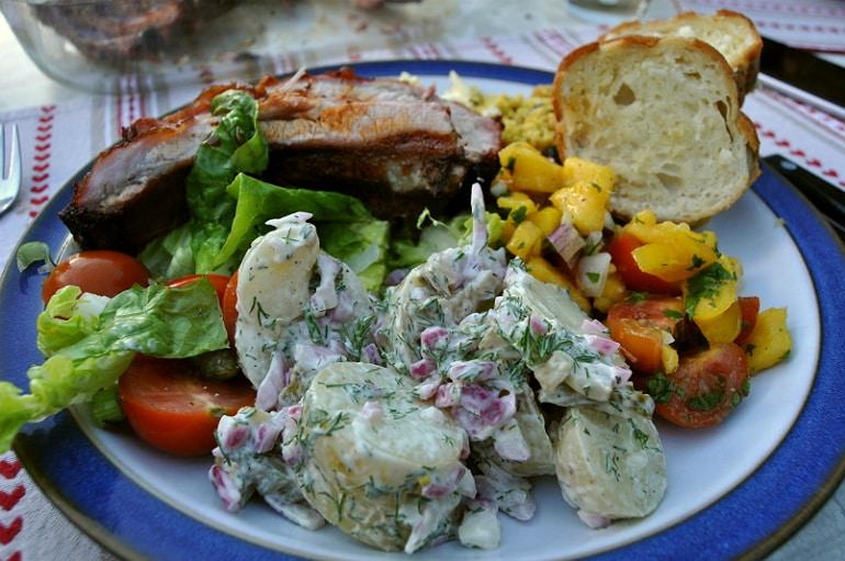 BBQ meat salad