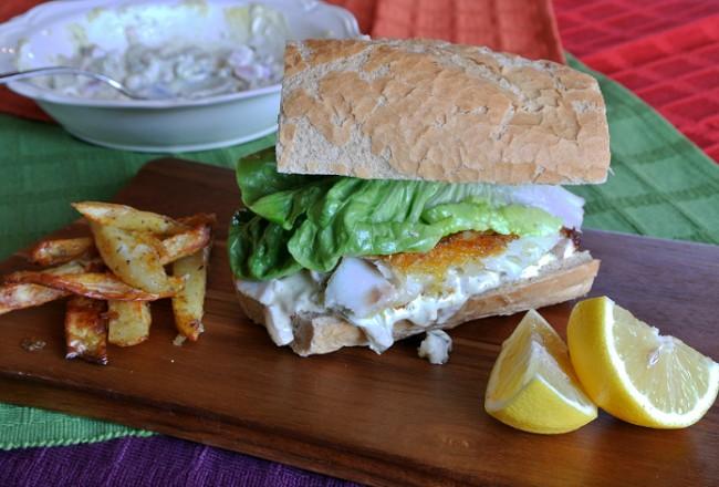 Gourmet fish finger sandwich recipe cover