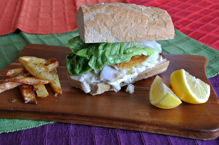 Gourmet fish finger sandwich recipe