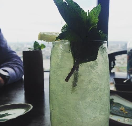 Hutong Shard London cocktail mint