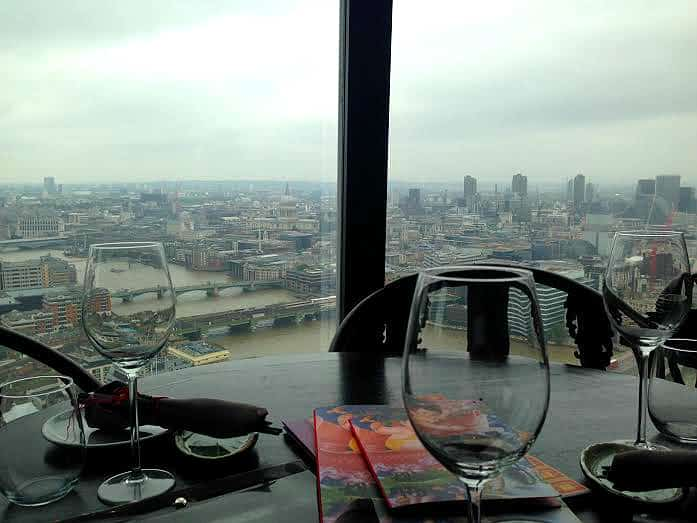 Hutong Shard London view